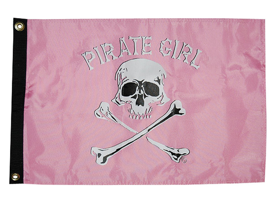 "Taylor Pirate Girl Flag 12""x18"" Nylon 1801"