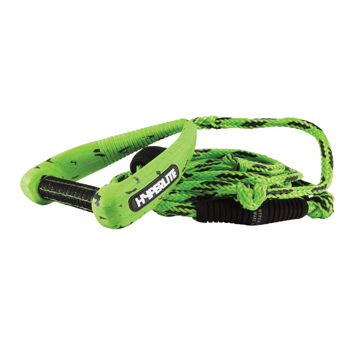 Hyperlite 25' Pro Surf Rope w/ Handle Green | 2021