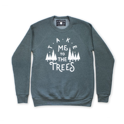 The Trees Crewneck-Forest