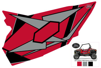 Trail Armor GenX Two Door Graphics Kit -  2015  RZR S 900 EPS Havasu Red Pearl