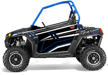 Trail Armor GenX Two Door Graphics Kit - 2014 RZRS 800 LE Stealth Black Voodoo Blue