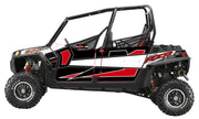 Trail Armor GenX Four Door Graphics Kit - 2013 RZR 4 XP 900 EPS Walker Evans Black-White LE
