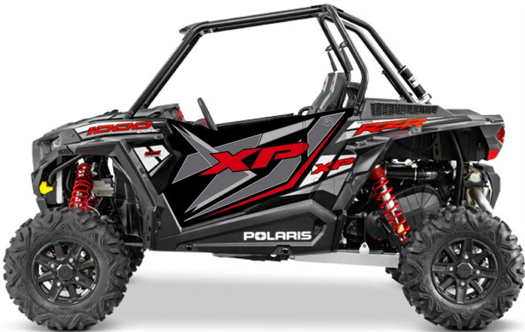 Trail Armor GenX Two Door Graphics Kit  - 2014 RZR XP 1000 Black Pearl