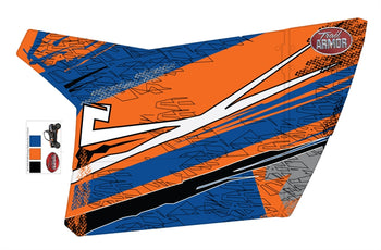 Trail Armor Gen X Two Door Graphics Kit - 2013 RZR XP 900 Orange Madness