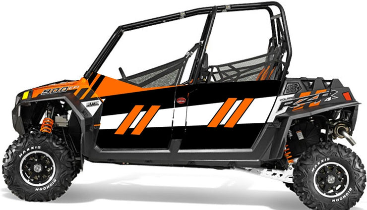 Trail Armor GenX Four Door Graphics Kit - 2014 RZR 4 900 EPS Orange Madness LE