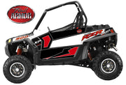 Trail Armor GenX Two Door Graphics Kit - 2013 RZR XP 900 EPS Walker Evans Black-White LE