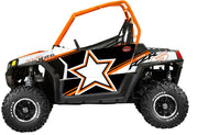 Trail Armor GenX Two Door Graphics Kit - 2013 RZR S 800 Orange White LE