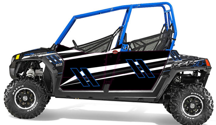 Trail Armor Slimline Four Door Graphics Kit - 2014 RZR 4 800 EPS Stealth Black LE