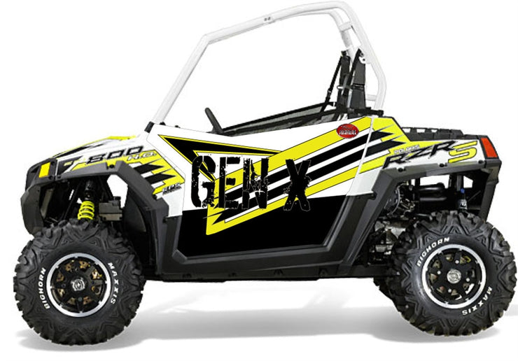 Trail Armor GenX Two Door Graphics Kit - 2014 RZRS 800 LE WHITE LIGHTNING