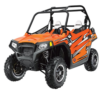 Trail Armor Slimline Two Door Graphics Kit - 2011 RANGER RZR 800 EPS Orange Madness
