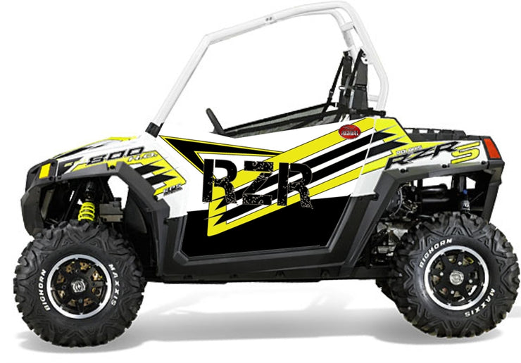 Trail Armor Slimline Two Door Graphics Kit - 2014 RZRS 800 LE WHITE LIGHTNING