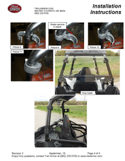 Trail Armor Polaris Sportsman ACE 325 and 570 Rear Window Dust Shield