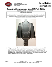 Trail Armor Can Am Commander Max XT, Commander Max and Commander Max Limited Full Skids with Integrated Slider Nerfs 2014-2020