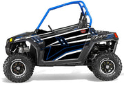 Trail Armor Slimline Two Door Graphics Kit - 2014 RZRS 800 LE Stealth Black Voodoo Blue