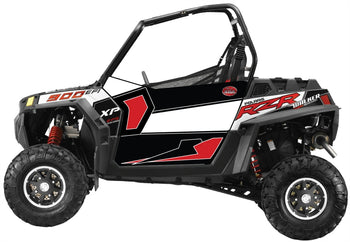 Trail Armor SLIMLINE Two Door Graphics Kit - 2013 RZR XP 900 EPS Walker Evans Black-White LE