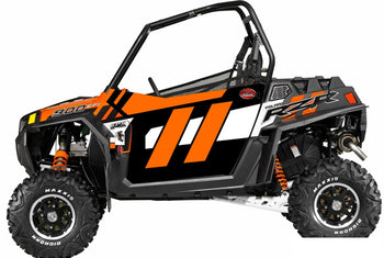 Trail Armor Slimline Two Door Graphics Kit - 2014 RZR 900 Orange Madness