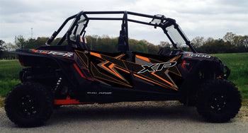 Trail Armor GenX Four Door Graphics Kit - 2014 RZR 4 XP 1000 Titanium Matte Black