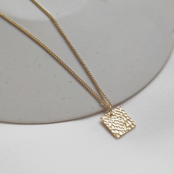 Textured Gold Necklace 18k women's necklaces - IZIIA