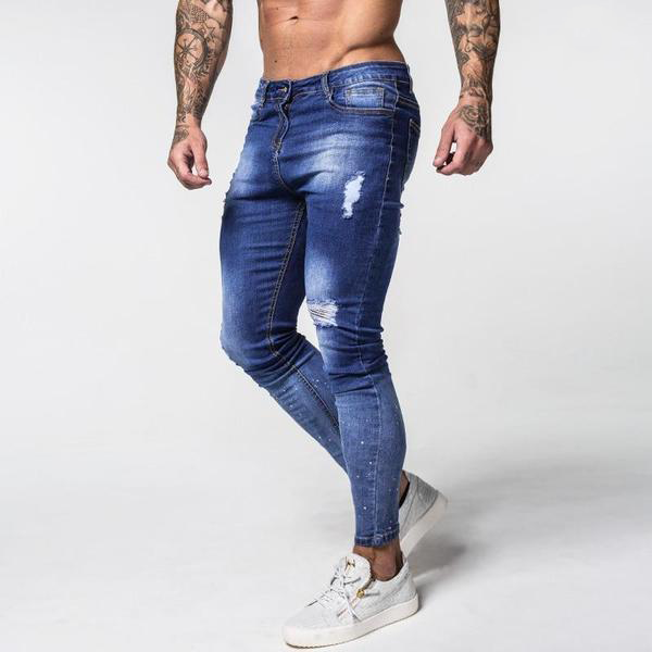 Faded Distressed Denim - Skinny Jeans Men's clothing - IZIIA