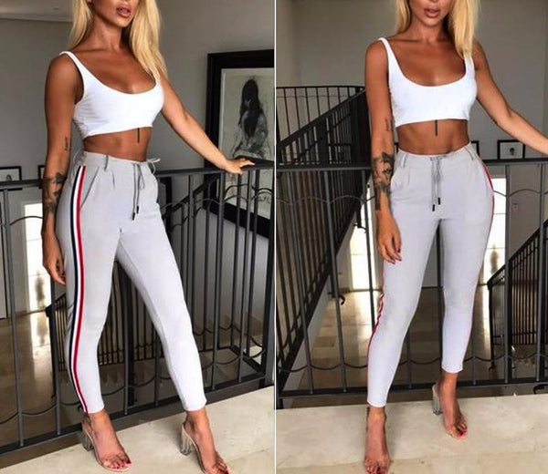 Elena Side Stripe Pants women's clothing - IZIIA
