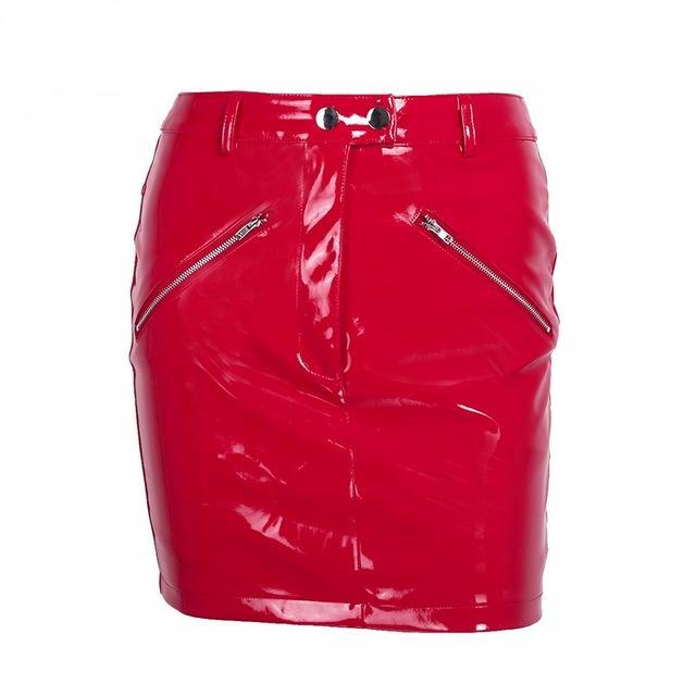 Alma Faux Leather Skirt Women's clothing - IZIIA
