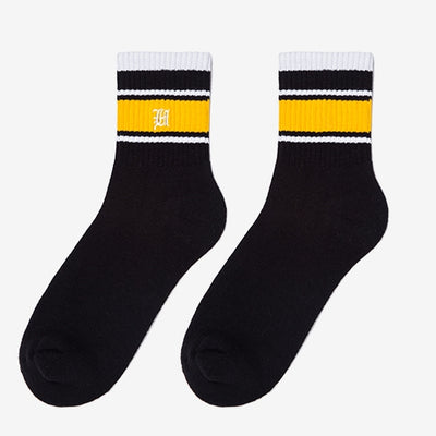 RIB SOCKS - BLACK/YELLOW Men's clothing - IZIIA