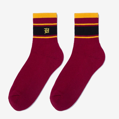 RIB SOCKS - RED/YELLOW Men's clothing - IZIIA