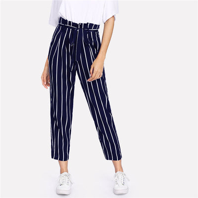 High Waist Tapered Pants women's clothing - IZIIA