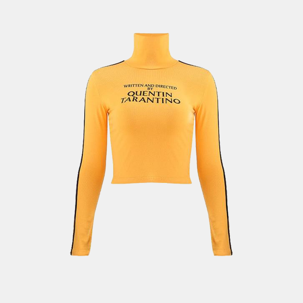 Quentin Tarantino - Long Sleeve Crop Top