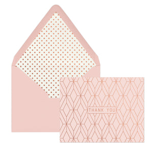 note-cards-copper-geo-thank-you