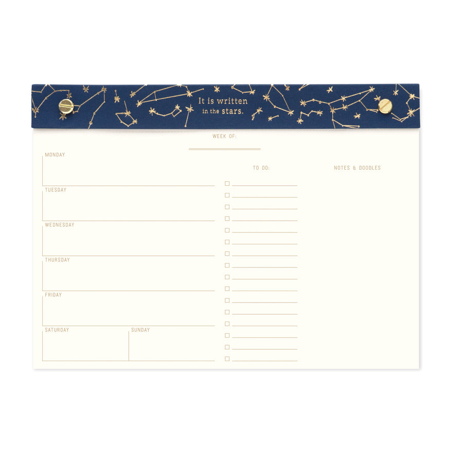 WEEKLY DESK PLANNER | CONSTELLATIONS