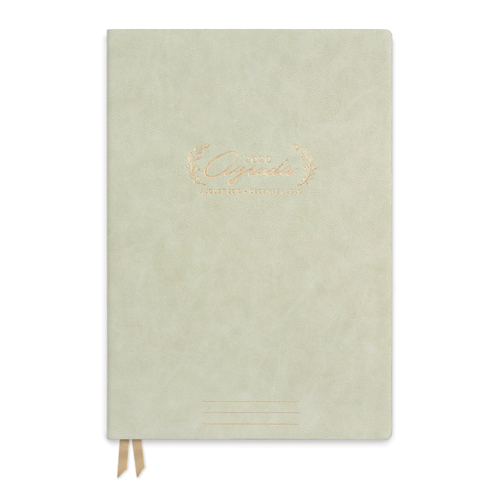 "LARGE VEGAN LEATHER AGENDA | FLORAL ""AGENDA"""