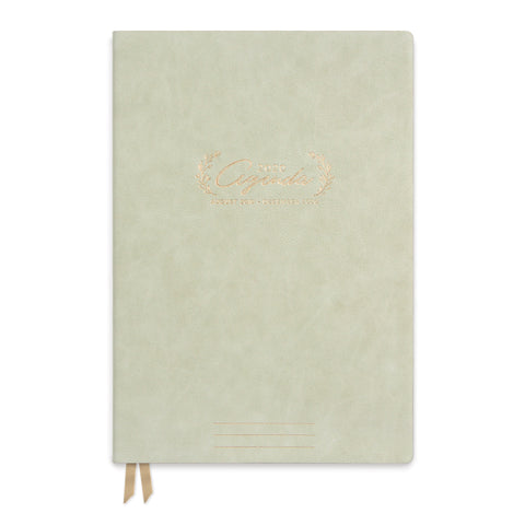 LARGE VEGAN LEATHER AGENDA | FLORAL