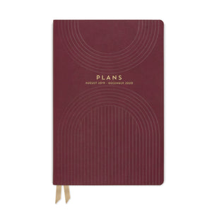 "MEDIUM VEGAN LEATHER AGENDA | LINEAR ""PLANS"""