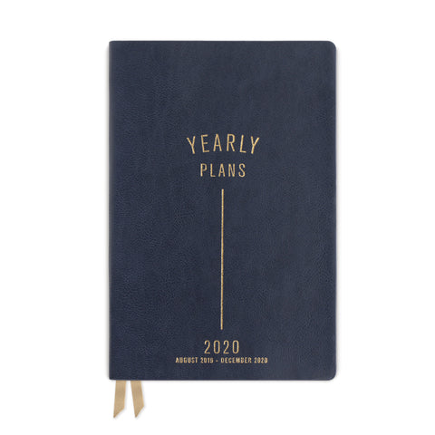 MEDIUM VEGAN LEATHER AGENDA | YEARLY PLANS LINE