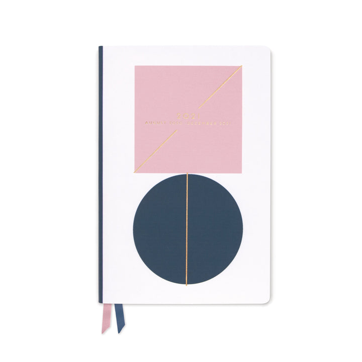 MEDIUM PRINTED VEGAN LEATHER AGENDA | 2021 CIRCLE SQUARE