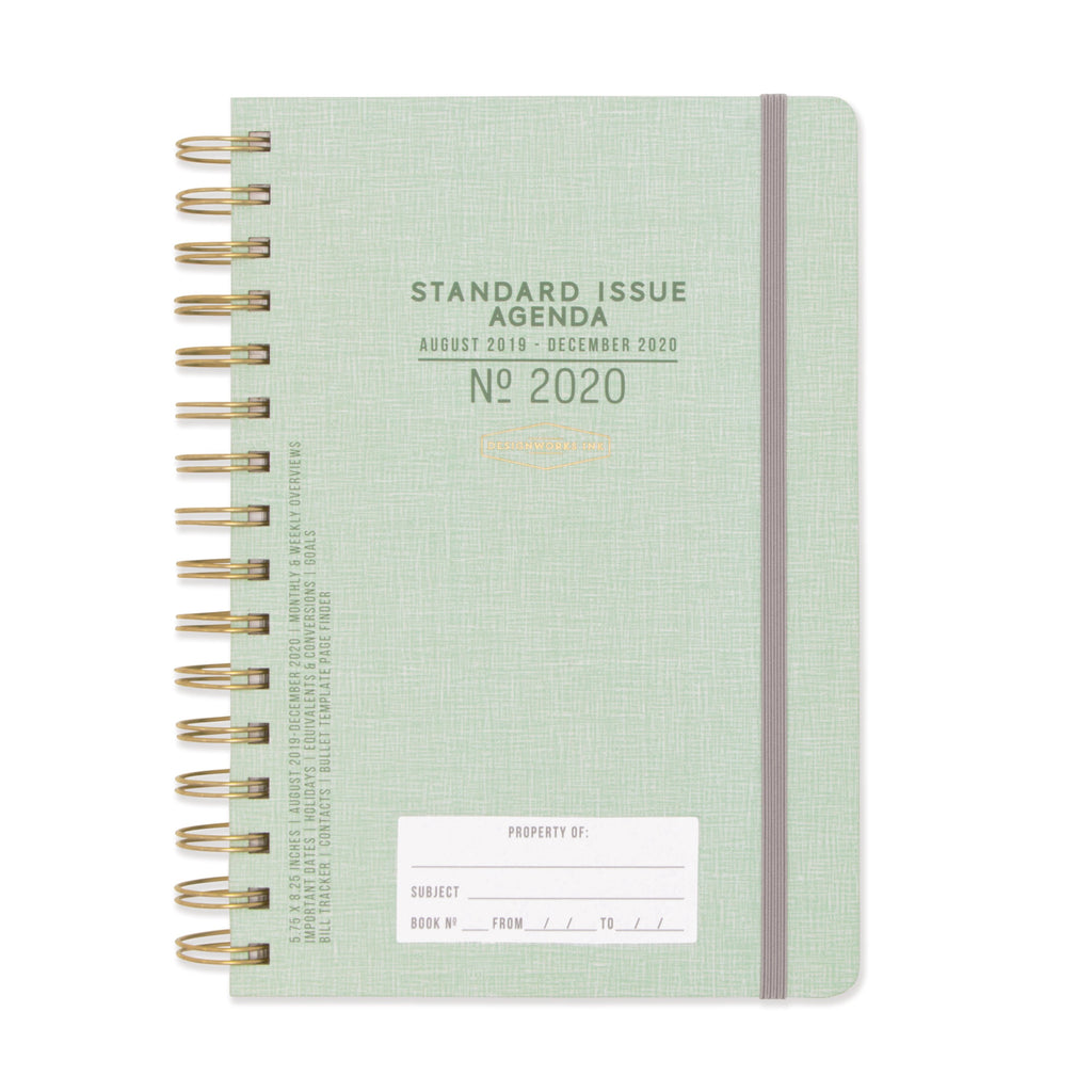 STANDARD ISSUE TWIN WIRE AGENDA | GREEN