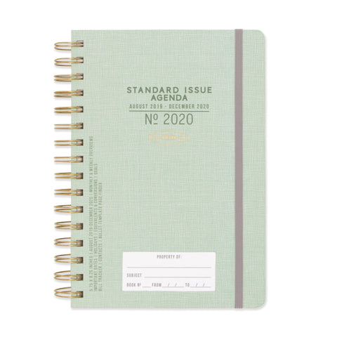 STANDARD ISSUE TWIN WIRE AGENDA 2020 | GREEN