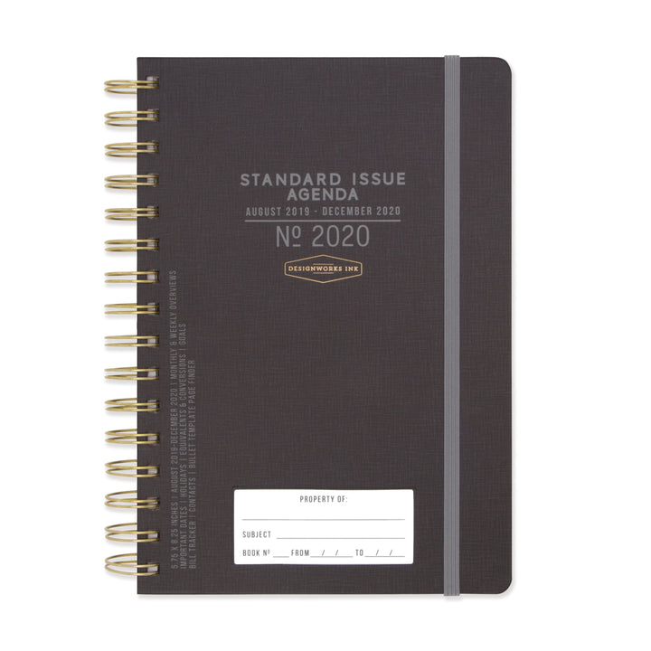 STANDARD ISSUE TWIN WIRE AGENDA 2020 | BLACK