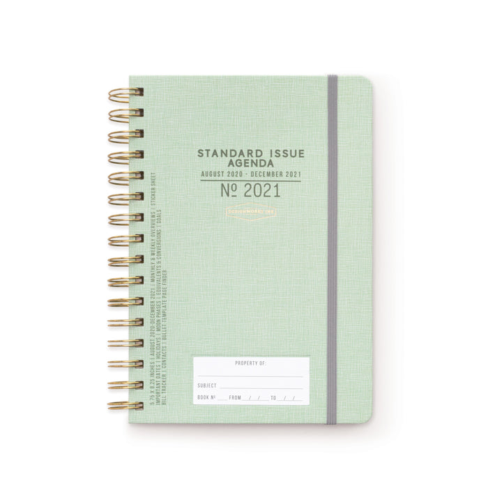 17 MONTH STANDARD ISSUE TWIN WIRE AGENDA 2021 | GREEN