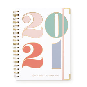 "LARGE 17 MONTH TWIN WIRE AGENDA | ""2021"" COLORFUL"