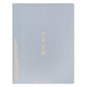 "LARGE SIMPLE PLANNER | LINEAR BOXES ""2020"""
