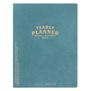 "LARGE SIMPLE PLANNER | ""YEARLY PLANNER - DREAMS AND SCHEMES"""