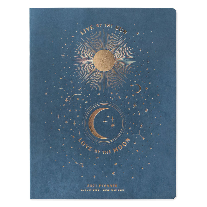 "LARGE SUEDE CLOTH SIMPLE PLANNER | ""LIVE BY THE SUN, LOVE BY THE MOON"""