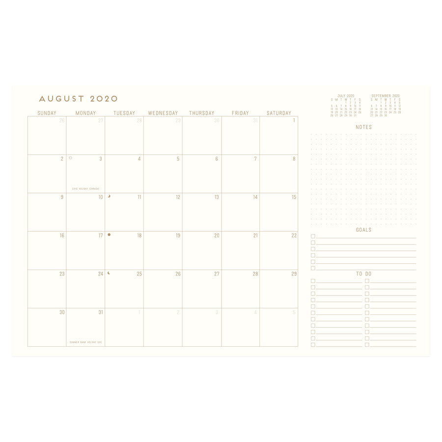 "LARGE CLOTH SIMPLE PLANNER | ""2021"" RADIANT SUNS BLOCK"