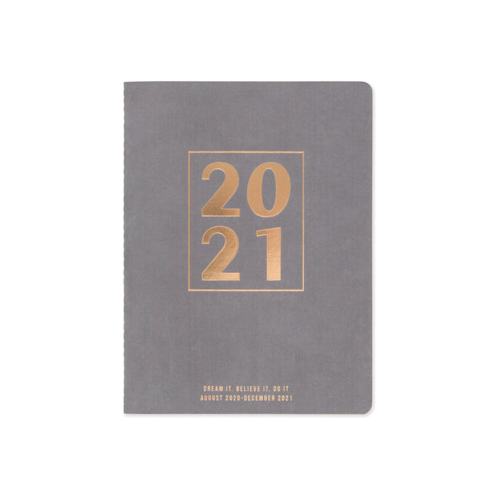 "SMALL SIMPLE SUEDE CLOTH PLANNER | ""2021"" BOLD BLOCK"
