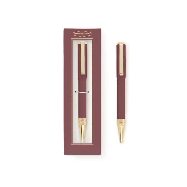 BOXED INK PEN | BURGUNDY