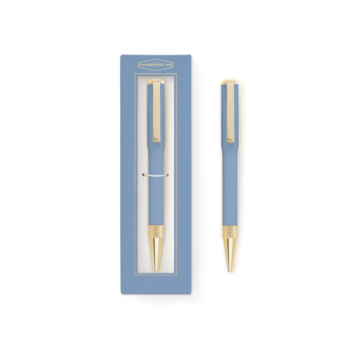 BOXED INK PEN | CORNFLOWER BLUE
