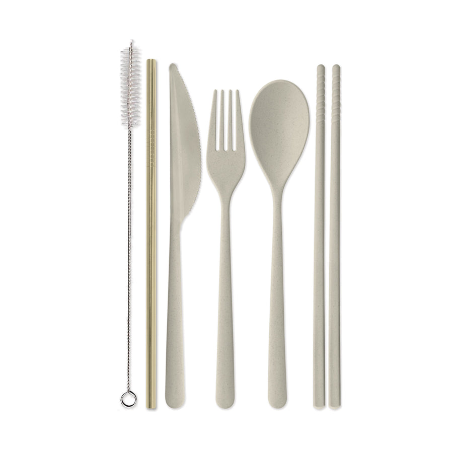 "PORTABLE FLATWARE SET | ""HAVE A KNIFE DAY! (SEE YOU SPOON!)"