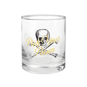 "BARWARE ROCKS GLASS | ""PICK YOU POISON!"""